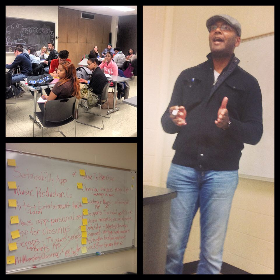 Co-instructor Andre Fowlkes of StartCo helps students launch startup ideas